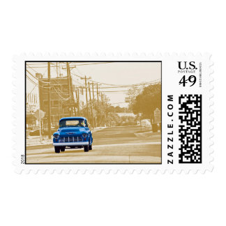 Trucking through downtown Georgetown, Texas (ACM) Postage
