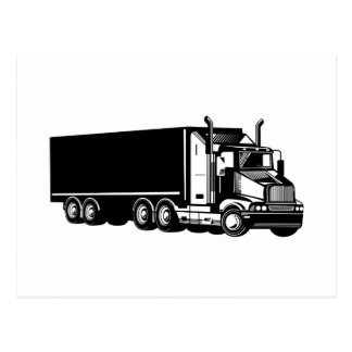 trucking truck driver business card post cards