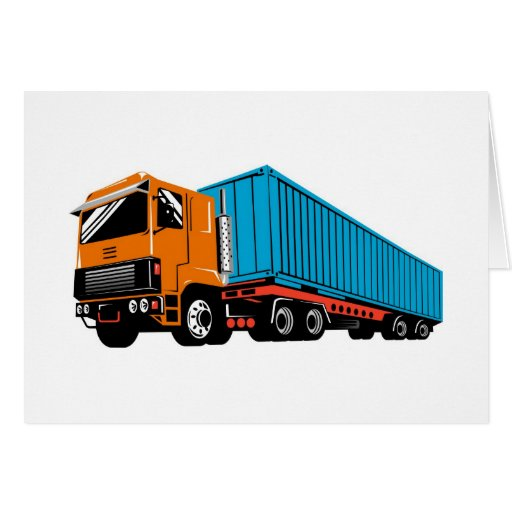 trucking truck lorry container truck card