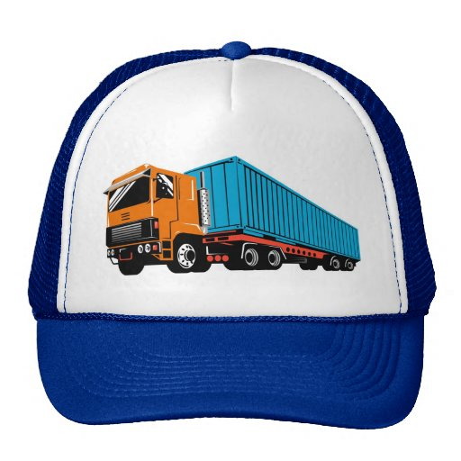 trucking truck lorry container truck mesh hat
