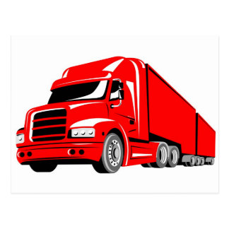 trucking truck lorry container truck transport post cards