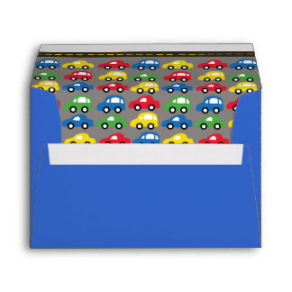 Trucks and Cards  Boys Birthday Party Envelope