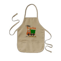 Trucks and Cookies (orange) Kids' Apron
