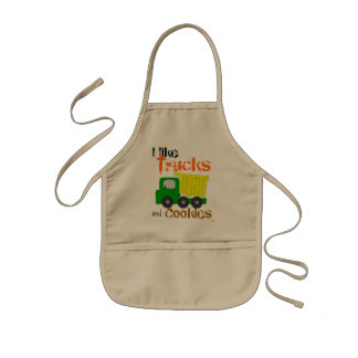 Trucks and Cookies (yellow) Apron