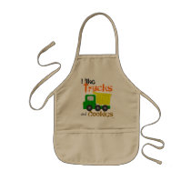 Trucks and Cookies (yellow) Kids' Apron