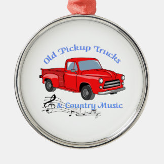 Trucks And Country Music Metal Ornament