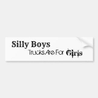Trucks Are For Girls Bumper Sticker