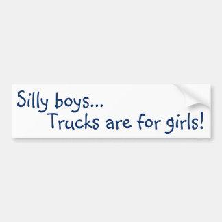 Trucks are for Girls! Bumper Sticker Car Bumper Sticker