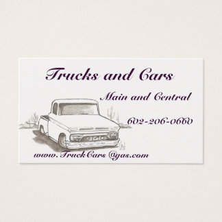 Trucks , Cars Business Cards