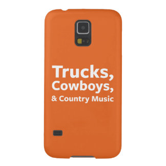 Trucks, Cowboys and Country Music Galaxy S5 Cases