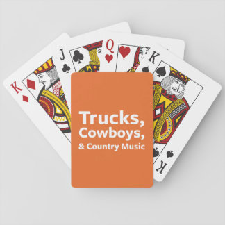 Trucks, Cowboys and Country Music Playing Cards