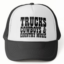 Trucks Cowboys Country Music Trucker Hat
