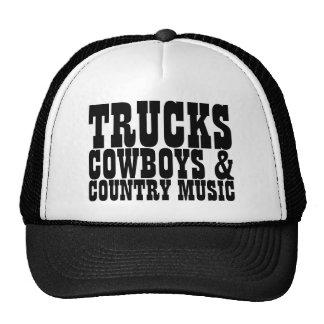 Trucks Cowboys Country Music Trucker Hat
