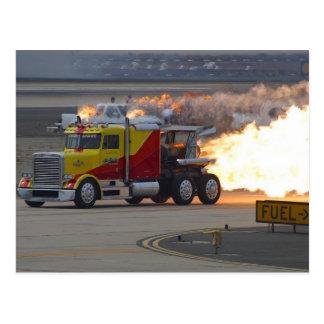 Trucks Engines Postcard