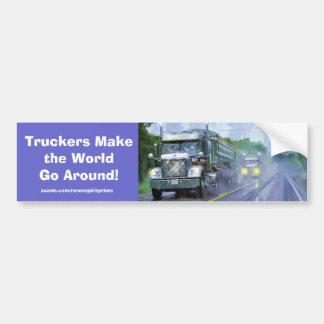 Trucks for Truckers & Truck-lovers Car Bumper Sticker