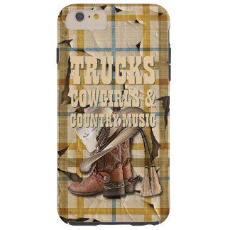 Trucks Girls Country Music Plaid Tartan Pattern Tough iPhone 6 Plus Case