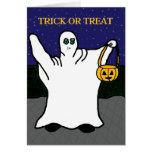 Truco de cartas o invitación de Halloween Tarjetas