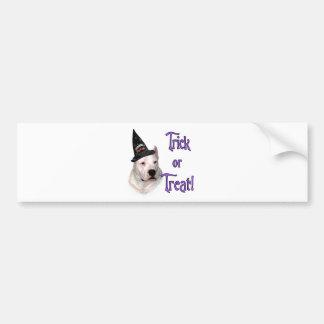 Truco de Dogo Argentino Etiqueta De Parachoque