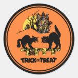 Truco de Halloween del vintage o pegatina de la