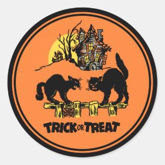 Truco de Halloween del vintage o pegatina de la in