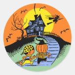 Truco de Halloween del vintage o pegatina de los