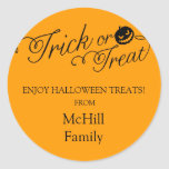 Truco de Halloween o etiqueta de la invitación