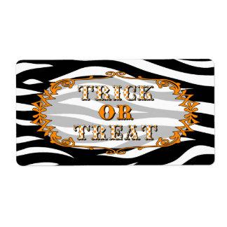 Truco de Halloween o etiqueta de la invitación Etiqueta De Envío