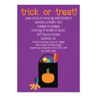 Truco de Halloween o invitación del bolso del