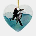 Truco de la bicicleta del estilo libre BMX Adorno