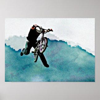 Truco de la bicicleta del estilo libre BMX Póster