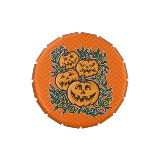Truco de la calabaza de Halloween o favor de Frascos De Caramelos