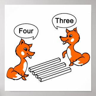 Truco de la ilusión óptica del Fox Póster