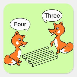 Truco de la ilusión óptica pegatina cuadrada