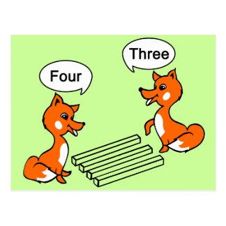 Truco de la ilusión óptica postal