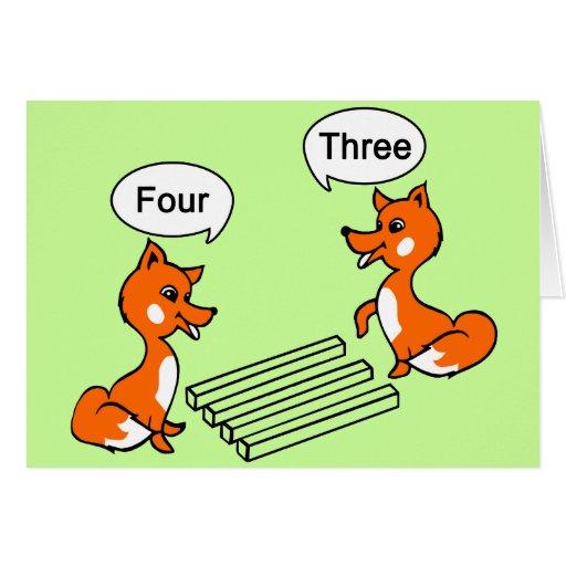 Truco de la ilusión óptica tarjeta de felicitación