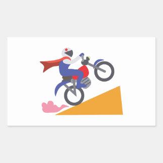 Truco de la motocicleta pegatina rectangular