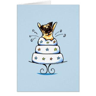 Truco de la torta del barro amasado tarjeta de felicitación