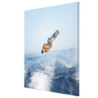Truco de Wakeboarding Impresión En Lienzo