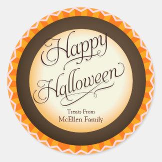 Truco del feliz Halloween o etiqueta de la