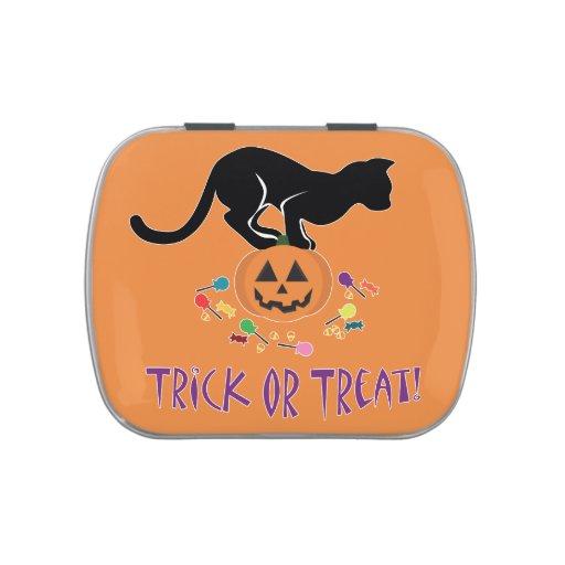 Truco del gato negro de la invitación jarrones de dulces