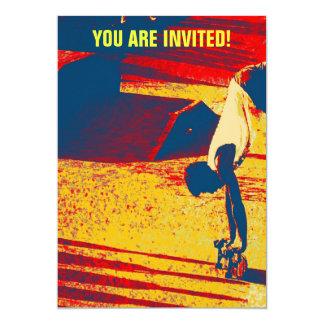 Truco del monopatín del estilo libre de los invitación personalizada