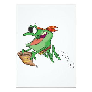 truco divertido o rana del froggy del pirata que invitación 12,7 x 17,8 cm