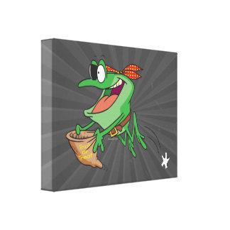 truco divertido o rana del froggy del pirata que t impresiones de lienzo