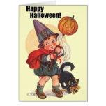 Truco lindo o Treater del feliz Halloween del Tarjeta De Felicitación