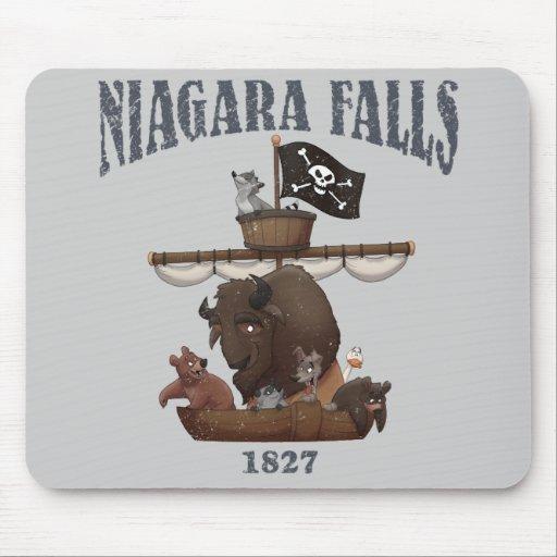 Truco Mousepad de la publicidad de Niagara Falls Tapetes De Ratones