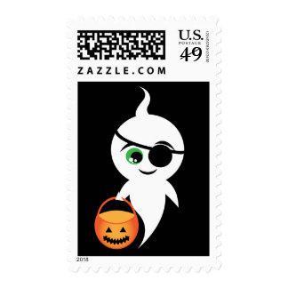 Truco o abucheo sello postal