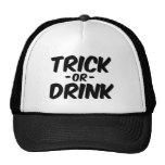 Truco o bebida Halloween divertido Gorro