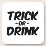 Truco o bebida Halloween divertido Posavasos De Bebidas