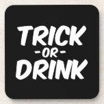 Truco o bebida Halloween divertido Posavasos De Bebida