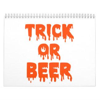 Truco o cerveza Halloween Calendarios